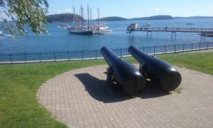 Bar Harbor Cannons and Ships
